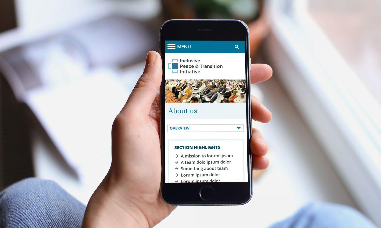 IPTI website on mobile