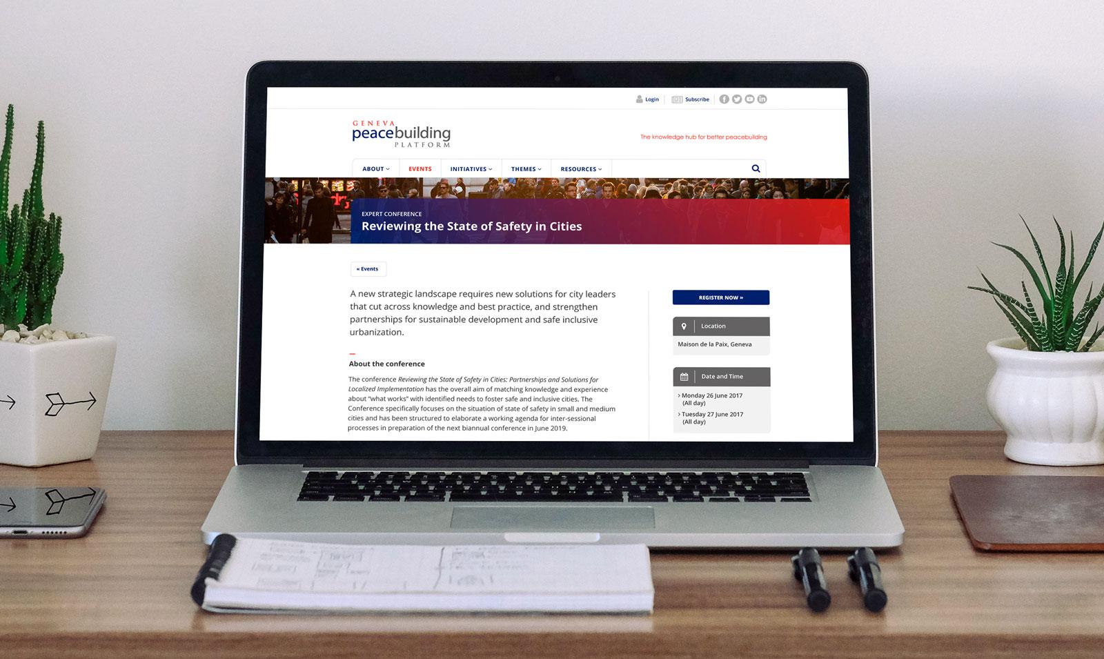 Geneva Peacebuilding Platform website