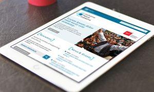 IPTI website homepage on tablet