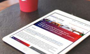 GPP website on tablet