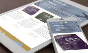 Hawksland website on mobile devices