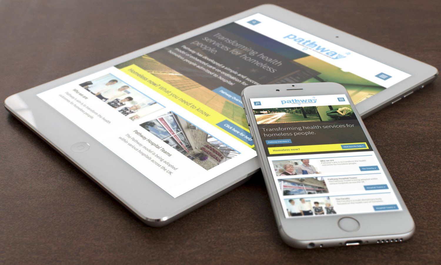 Pathway website on mobile devices