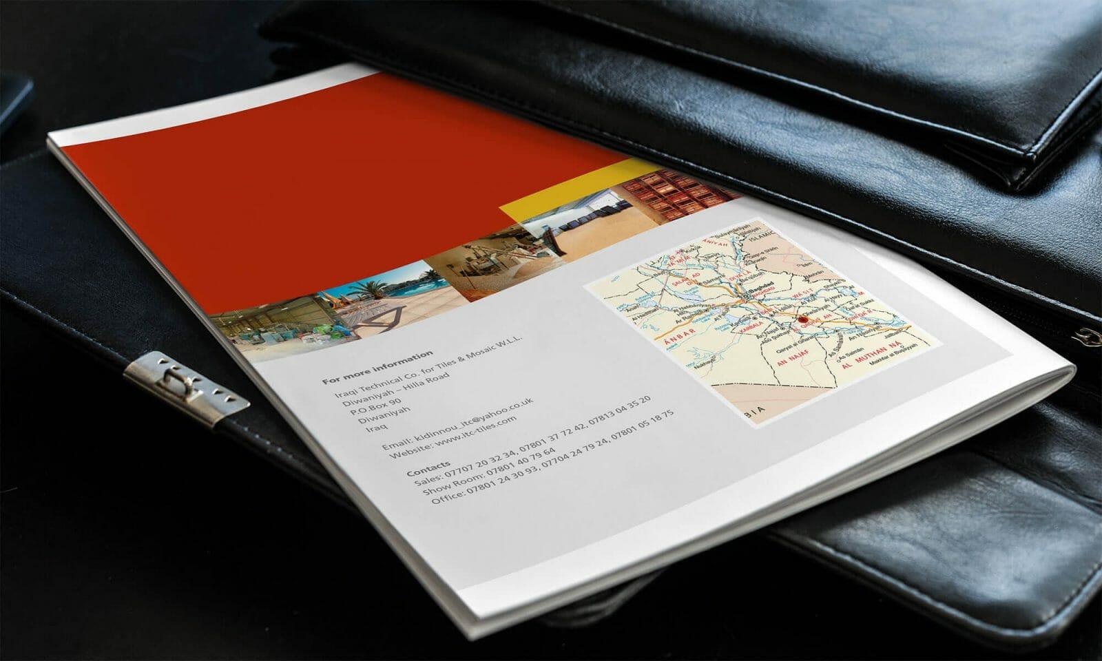 Iraqi Tiles company brochure reverse