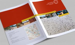 Iraqi Tiles company brochure cover and reverse