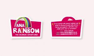 Ana Rainbow logo business card