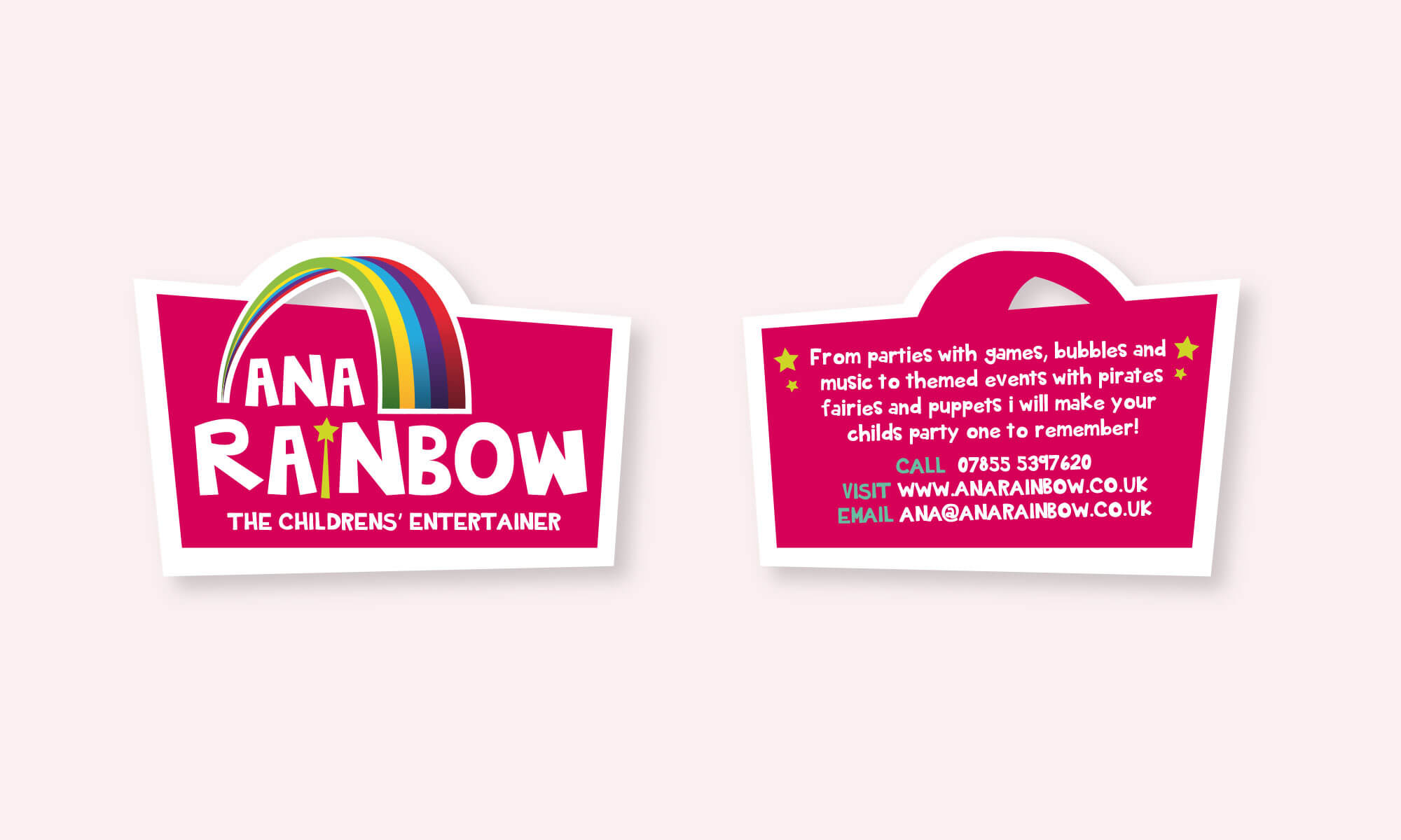 Ana Rainbow logo business card