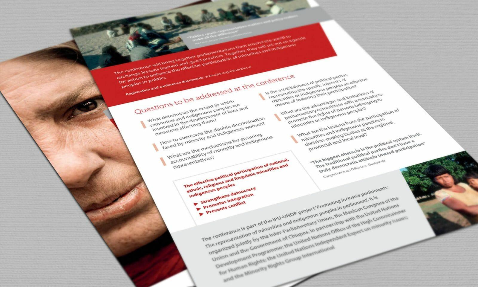 IPU indigenous leaflet reverse