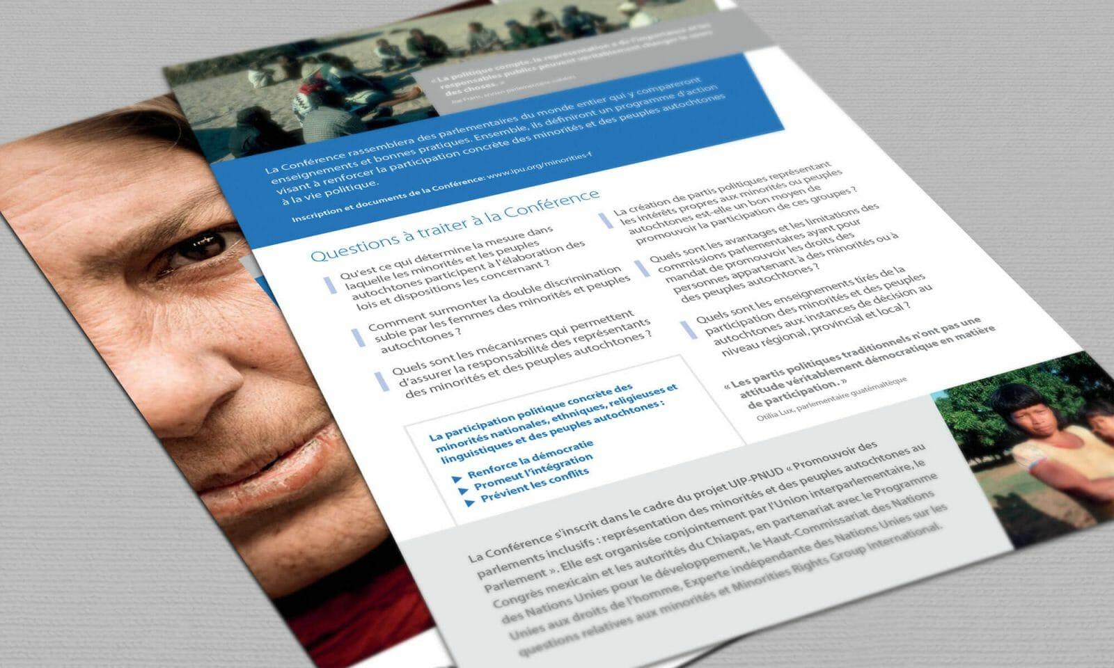 IPU indigenous leaflet reverse french