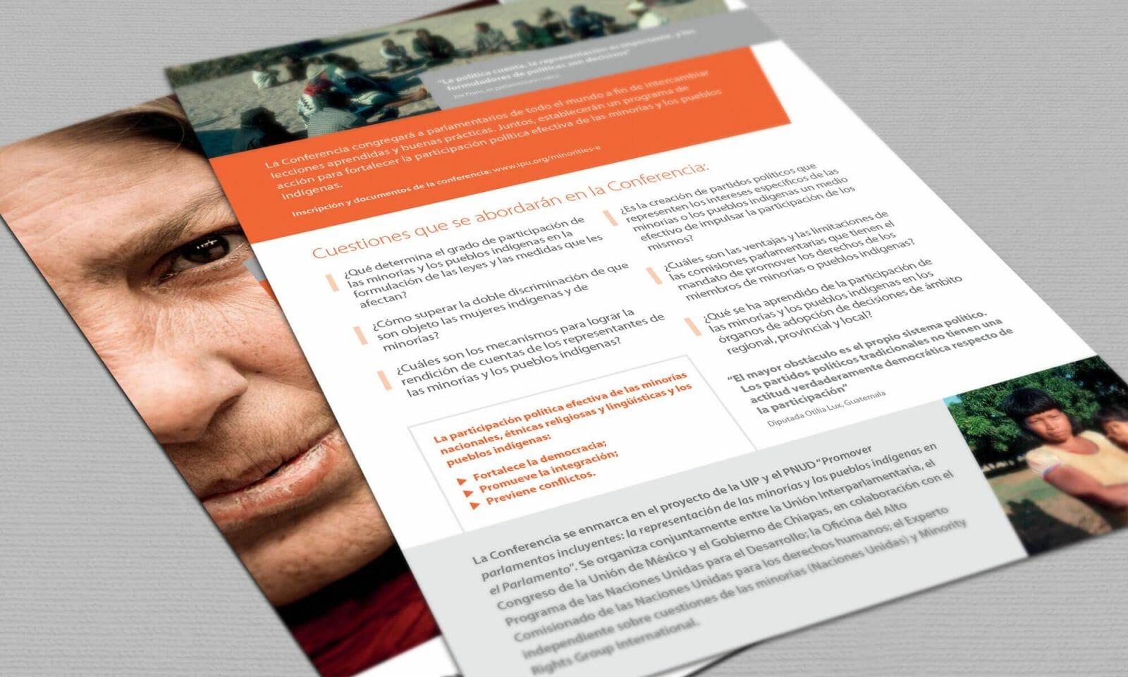 IPU indigenous leaflet reverse spanish