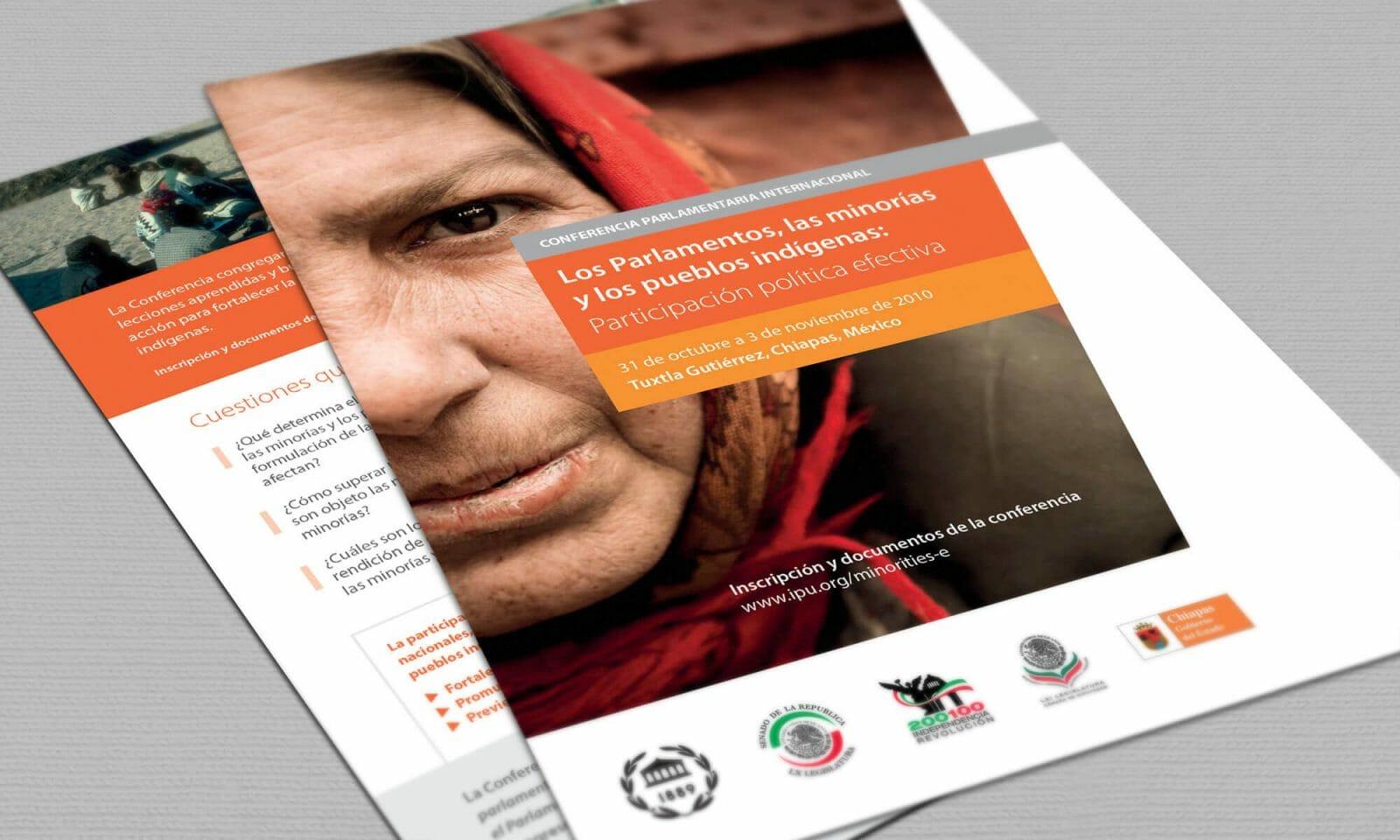 IPU indigenous leaflet cover spanish