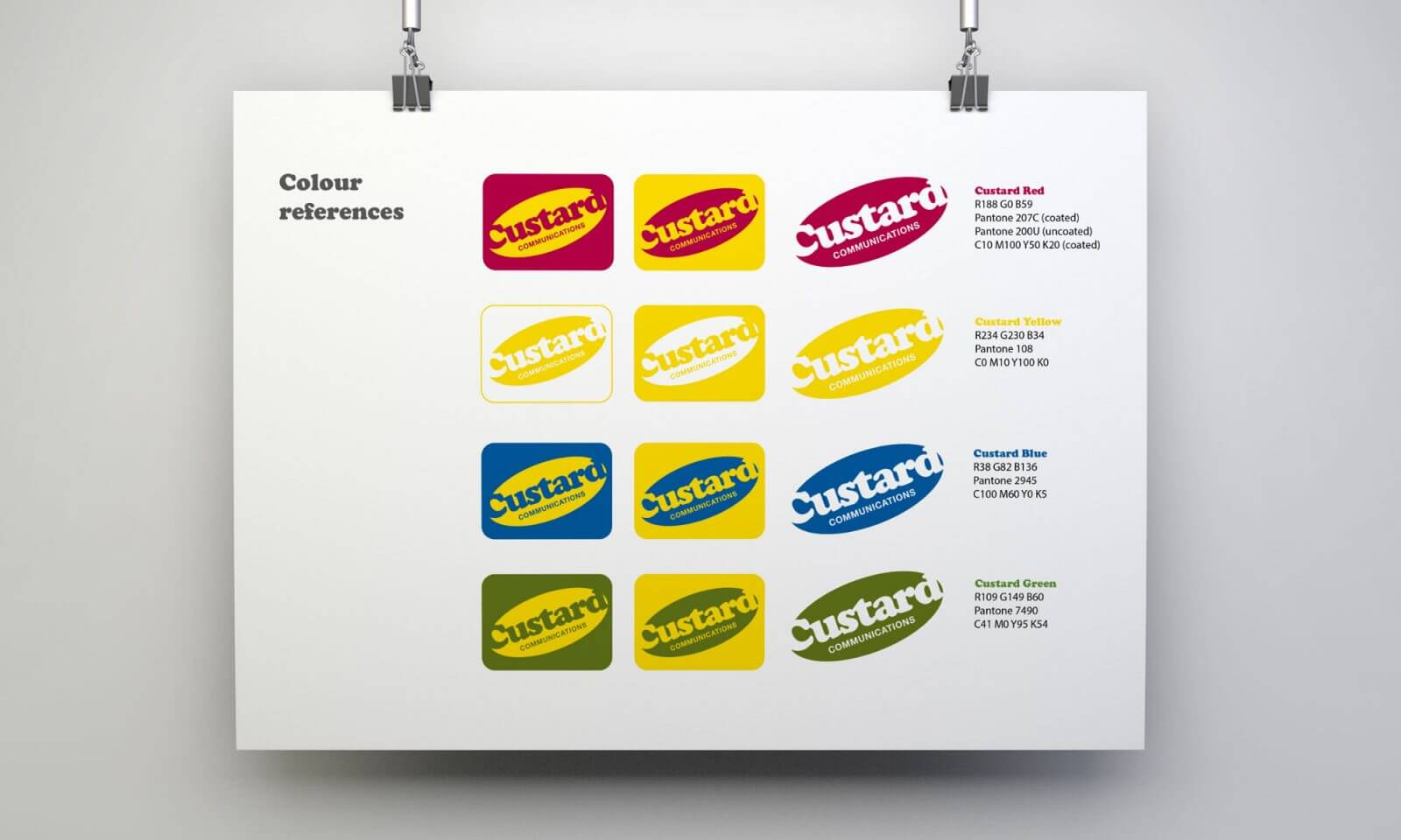 Custard logo options