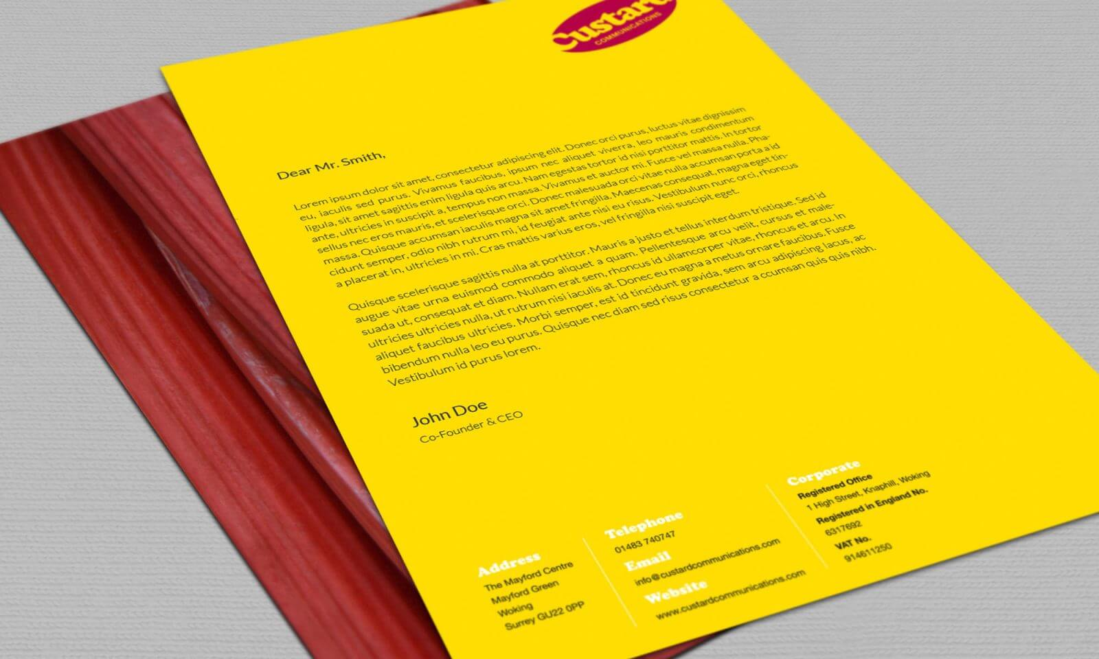 Custard letterhead