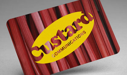 Custard business card
