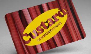 Custard business card