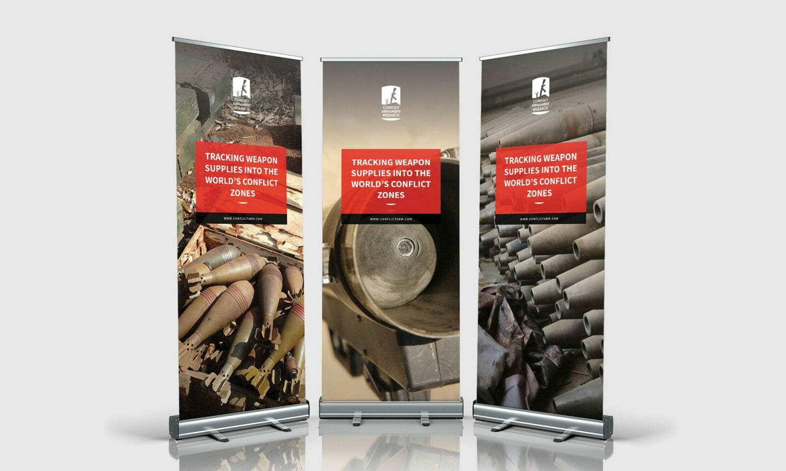 Conflict Armament Research banners