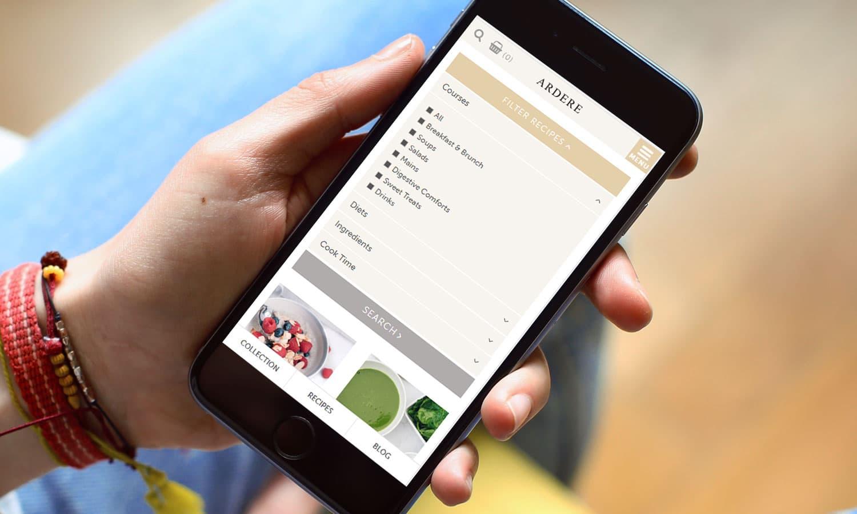 Recipes sort - mobile