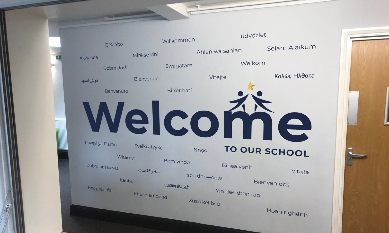 Carterhatch Junior School - welcome wall art