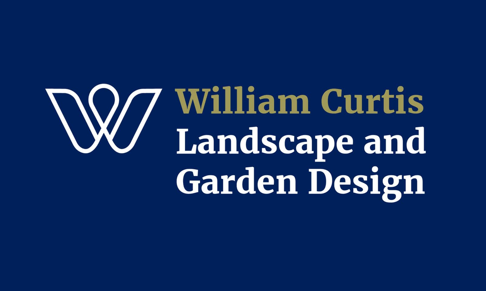 William Curtis - Logo landscape colour reverse