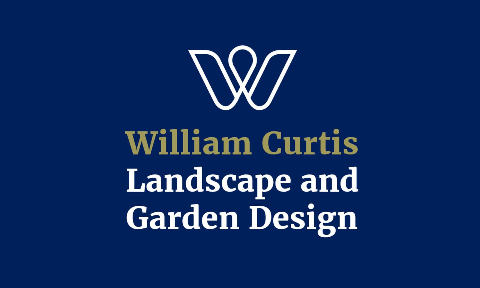 William Curtis - Logo portrait reverse colour