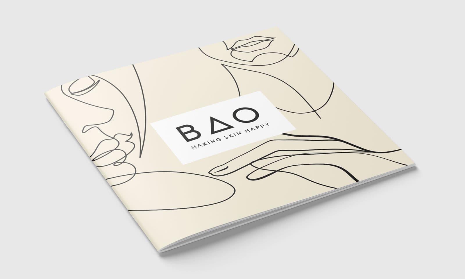 BAO Skincare brochure cover