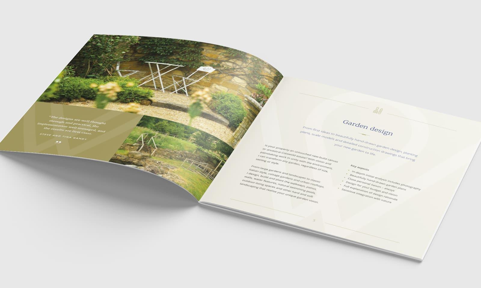 William Curtis Brochure Garden Design