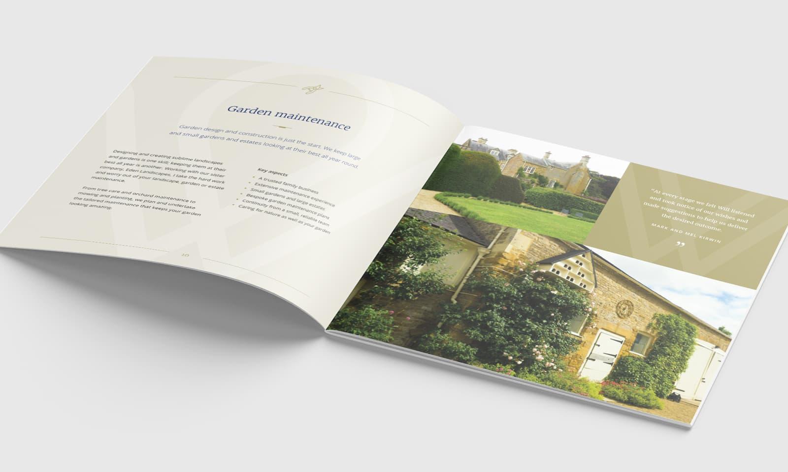 William Curtis Brochure garden maintenance