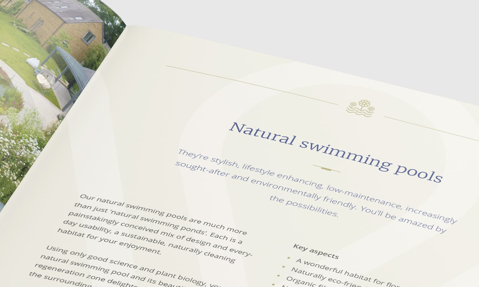 William Curtis brochure natural swimming pools page close up
